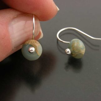 Sterling silver and aquaterra jasper earrings by Kate Wilcox-Leigh | Gem Spotlight Collection