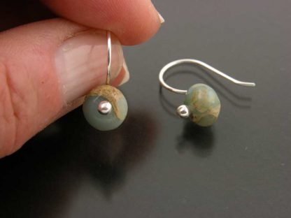 Sterling silver and aquaterra jasper earrings by Kate Wilcox-Leigh   Gem Spotlight Collection