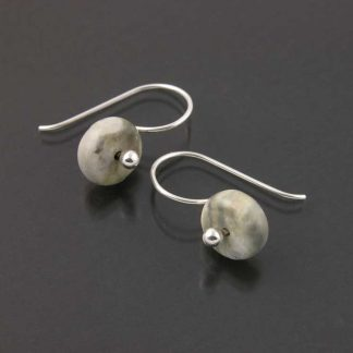 Sterling silver and Picasso Marble earrings by Kate Wilcox-Leigh | Gem Spotlight Collection