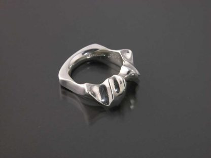 Sterling silver stylized bat ring by Kate Wilcox-Leigh