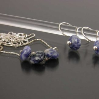 Sterling silver and Sodalithe earring and necklace set | Gem Spotlight Collection by Kate Wilcox-Leigh
