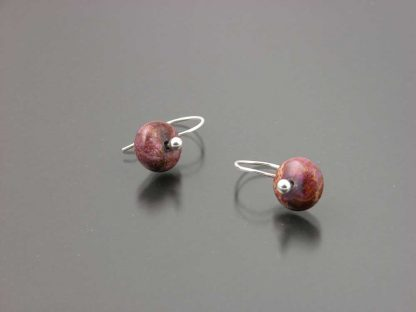 Sterling silver and impression jasper earrings by Kate Wilcox-Leigh | Gem Spotlight Collection