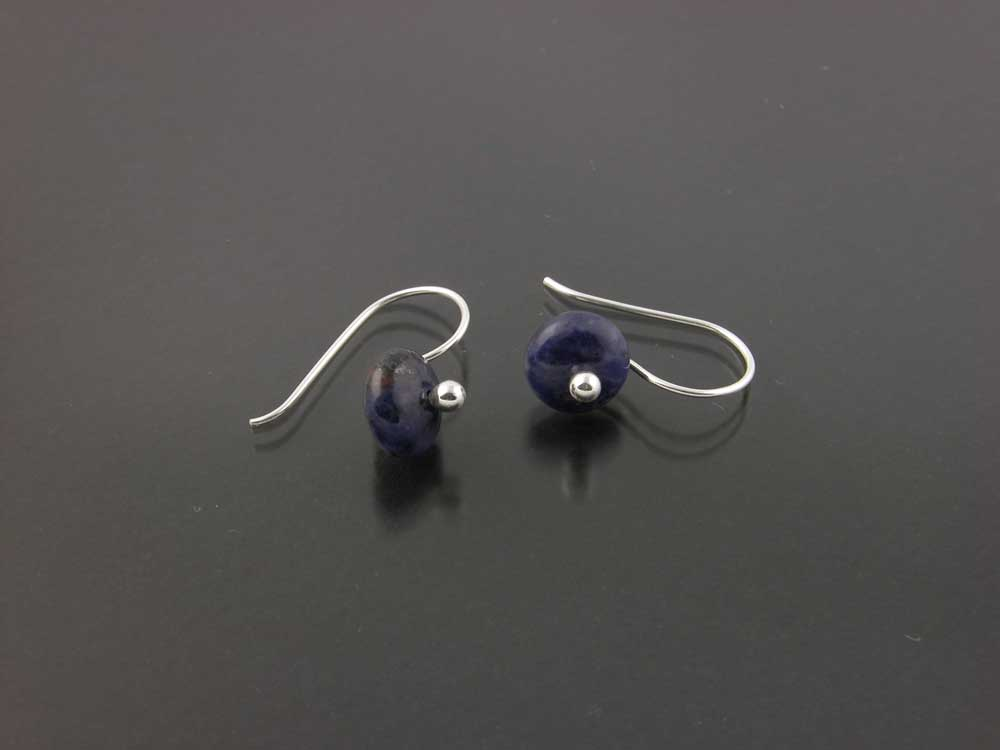 Sterling Silver And Sodalite Earrings By Kate Wil Leigh Gem Spotlight Collection