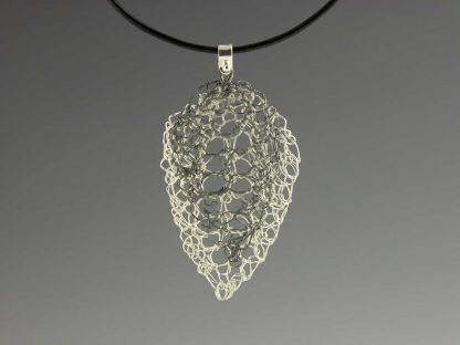 Leaf Lace Neck Large Bright with Medium Oxidized Motif by Kate Wilcox-Leigh