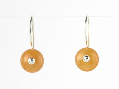 Kate Wilcox-Leigh Peach Aventurine Earrings 2018035