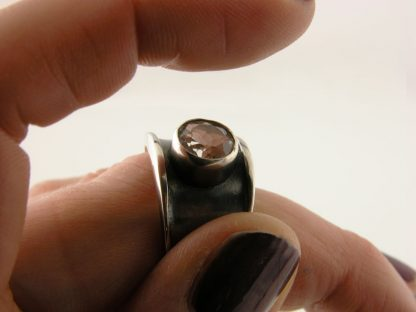 kate-wilcox-leigh-ring-thickened-edge-narrow-sterling-quartz-side-on