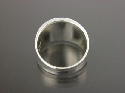 Kate Wilcox-Leigh Ring Narrow Thickened Edge Sterling Back View
