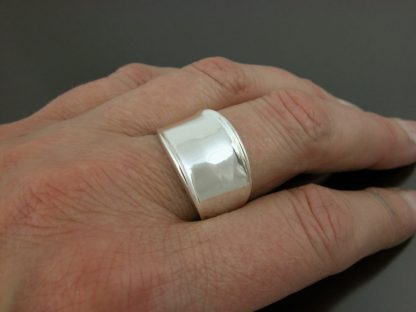 Kate Wilcox-Leigh Ring Narrow Thickened Edge Sterling On 1
