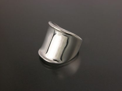 Kate Wilcox-Leigh Ring Thickened Edge Sterling 3qtr Left View