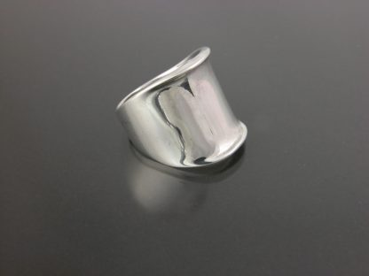 Kate Wilcox-Leigh Ring Thickened Edge Sterling 3qtr Right View