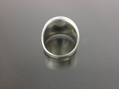 Kate Wilcox-Leigh Ring Thickened Edge Sterling Back View