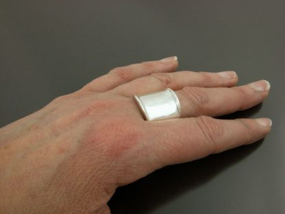 Kate Wilcox-Leigh Ring Thickened Edge Sterling On 2