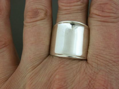 Kate Wilcox-Leigh Ring Thickened Edge Sterling On 3