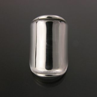Kate Wilcox-Leigh Ring Thickened Edge Wide Sterling Front View