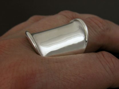 Kate Wilcox-Leigh Ring Thickened Edge Wide Sterling On