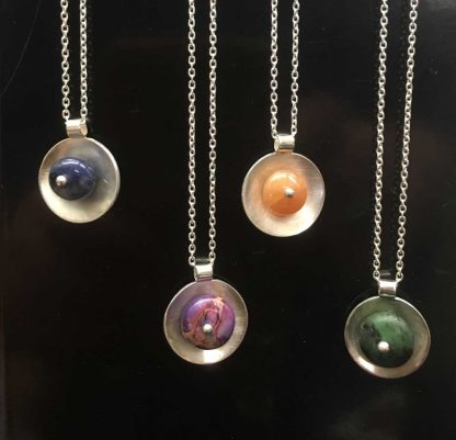 Kate Wilcox-Leigh Gem Spotlight Necklaces Sterling On Display