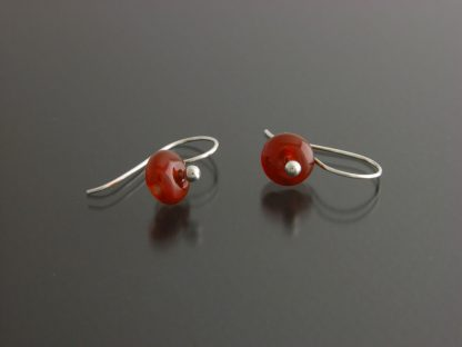 Kate Wilcox-Leigh Gem Spotlight earrings sterling carnelian laid out