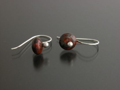 Kate Wilcox-Leigh Gem Spotlight earrings sterling mahogany obsidian laid out 2018031