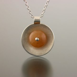Kate Wilcox-Leigh Gem Spotlight necklace sterling peach adventurine detail 2018036