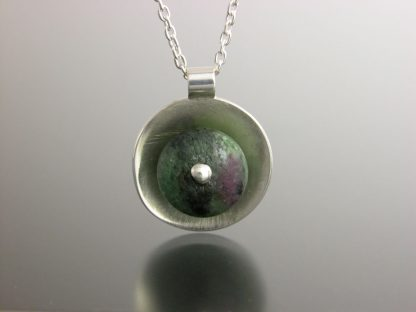Kate Wilcox-Leigh Gem Spotlight necklace sterling ruby zoisite detail 201803007