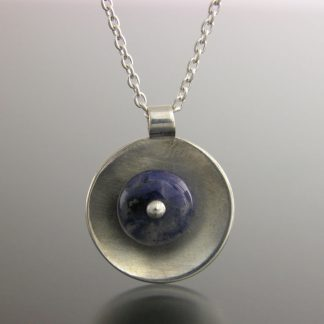 Kate Wilcox-Leigh Gem Spotlight necklace sterling sodalite detail 2018042